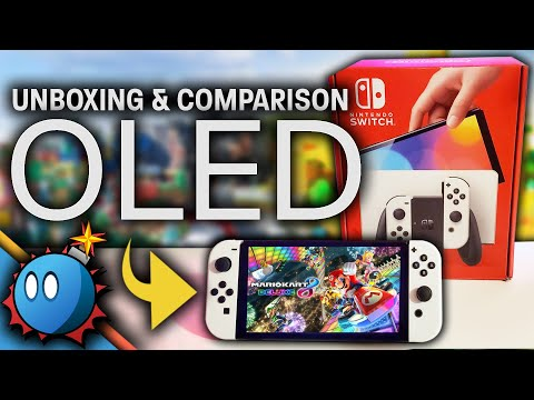 We Unbox the Switch OLED! Breakdown and Comparison to Original Switch!
