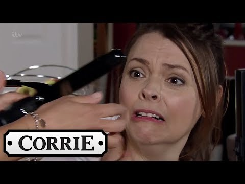 Coronation Street - Maria Burns Tracy's Hair Off!