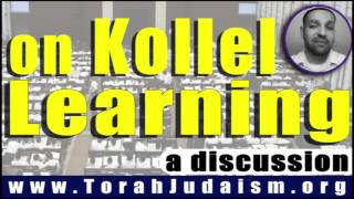 on Kollel learning...