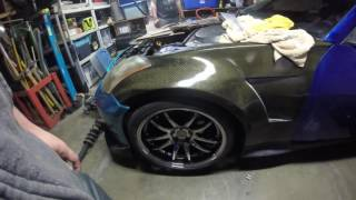 bc racing 350z br true coilover install