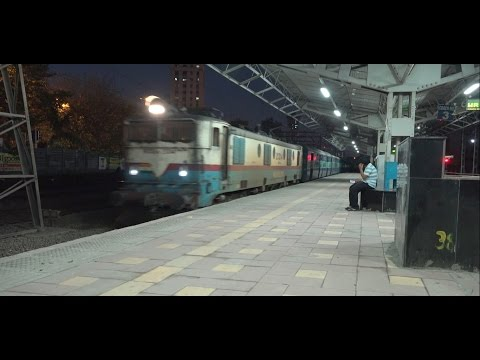 Fzr Janta Express led by Unusual Oldest Operative Locomotive At Unusually Quiet Dadar