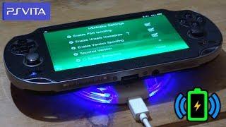 PS Vita Wireless Charging Mod Demo!