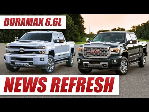 There's an All-New Duramax 6.6L Diesel in the 2017 Silverado HD and Sierra HD!
