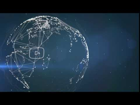 Wireframe Globe Twitter VZ Social Animation Clip With Audio