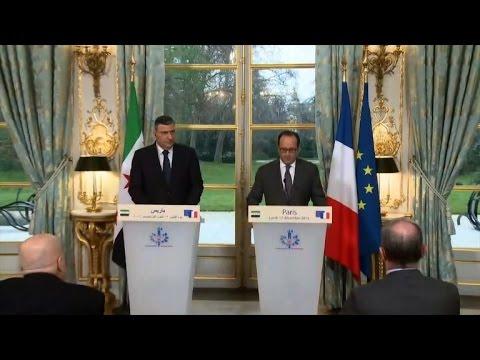 "France's Hollande denounces the ""horrors"" of Assad's regime"