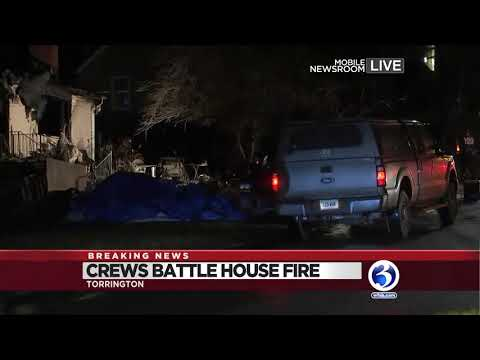 Video: Two injured in Torrington house fire