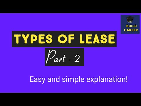 Types of Leasing| Types of lease financing| #Buildcareer