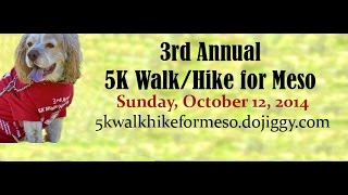 5K Walk/Hike for Mesothelioma: Sunday, October 12, 2014