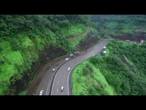 Drone View Mumbai-Pune Expressway