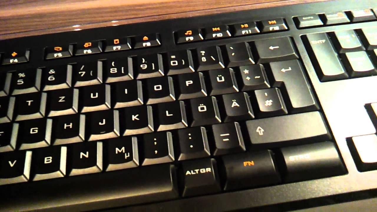Logitech Illuminated Keyboard Deutsch Hd Youtube