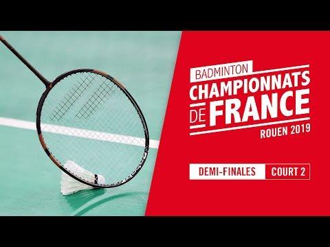 Championnats de France de Badminton 2019 - Demi-finales - court 2