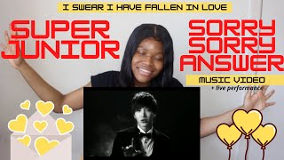 SUPER JUNIOR 슈퍼주니어 'Sorry, Sorry - Answer' MV REACTION +Sorr…
