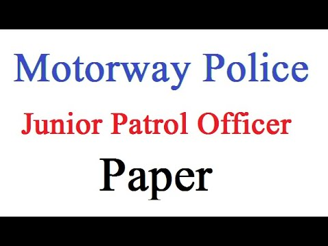 Solved Question | Motorway Police Jobs 2017 | Junior Patrol Officer MCQs, NTS, CSS AD PPSC FPSC