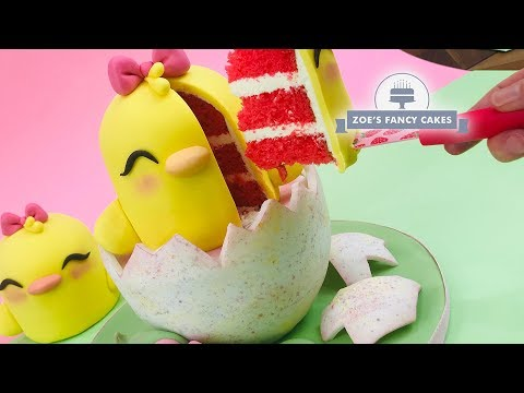 Easter Chick Cake, Great For Easter Parties, Birthday Cake Ideas And Special Occasions