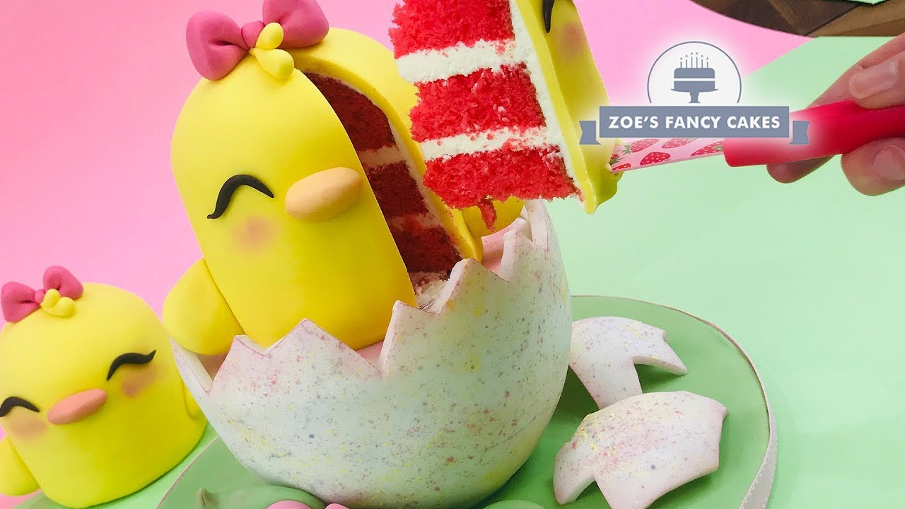 Easter Chick Cake Great For Easter Parties Birthday Cake Ideas And