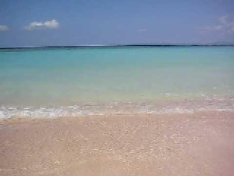ニシ浜の波打ち際
