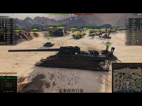 ОГРОМНАЯ АРТА в WoT! ОНА НЕ ПОМЕЩАЕТСЯ В АНГАРЕ World Of Tanks!