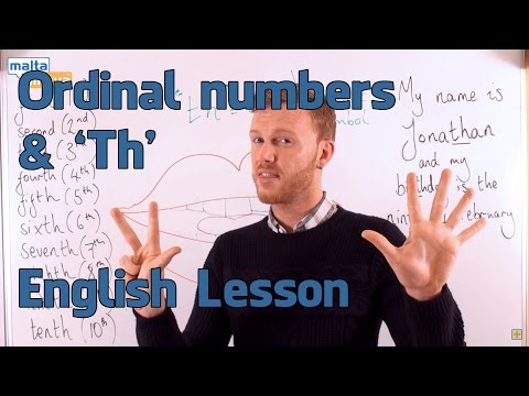 Ordinal Numbers 'Th' - English Pronunciation Lesson (Elementary)