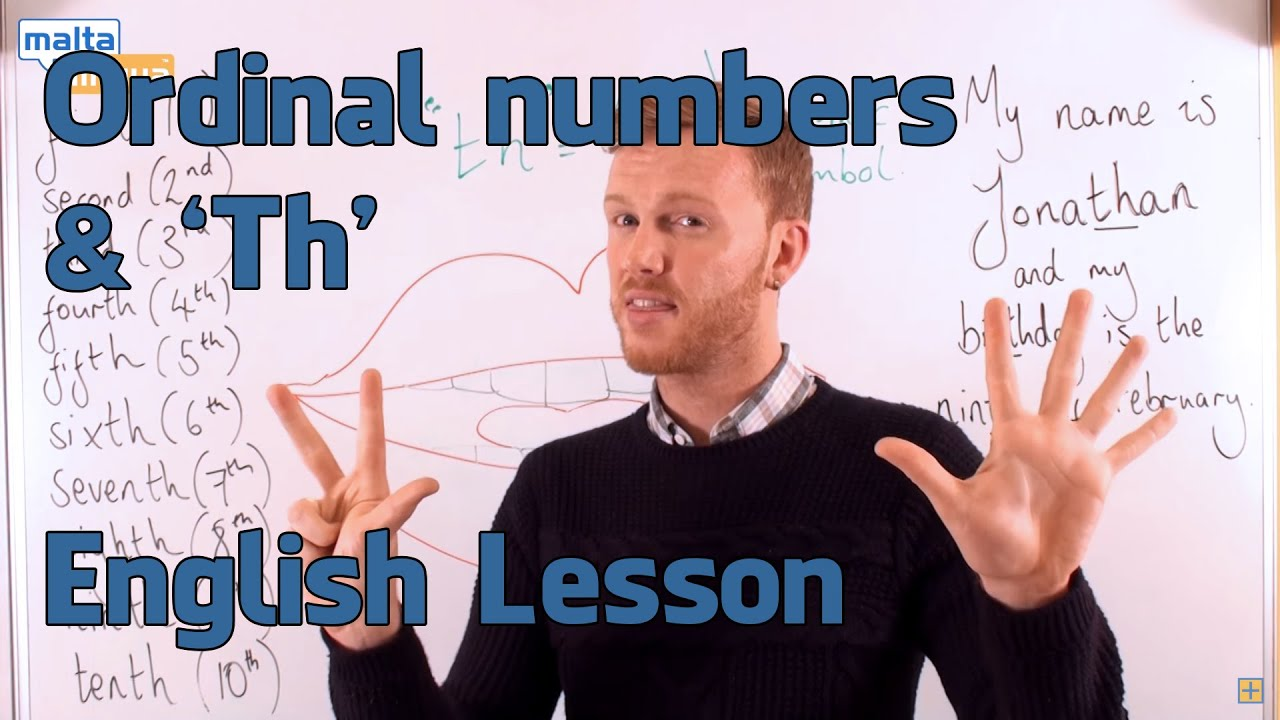 Ordinal numbers th english pronunciation lesson elementary
