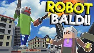 MEGA ROBOT BALDI ATTACKS CITY! - Tiny Town VR Gameplay - Oculus VR Game