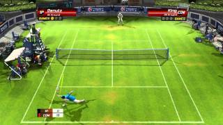 Virtua Tennis 3 beating King on hard