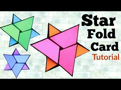 Star Fold Card Tutorial | How to make Napkin fold card | Friendship Day Card |