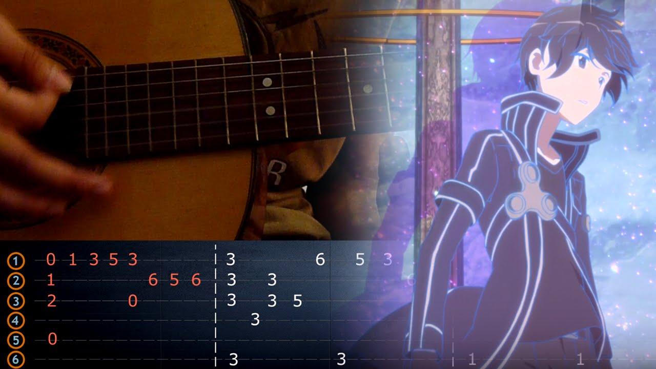 Guitar Tutorial Yume Sekai Guitar Cover Solo Sao Ed 1 Youtube