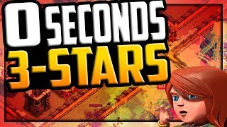 ZERO Seconds - THREE Star! Clash of Clans EPIC Clan War League LIVE Attacks!