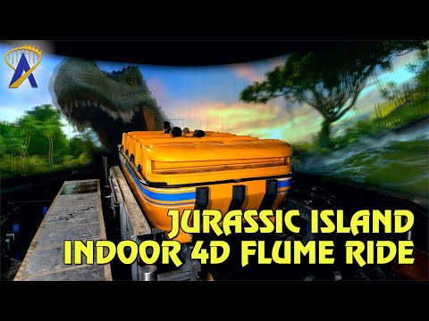 Jurassic Island Indoor 4D Flume Ride | Trans Studio Cibubur in Indonesia