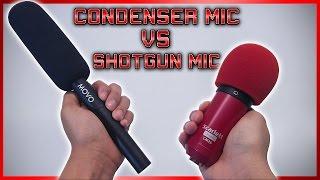 BEST MICROPHONE FOR VIDEOS?! (Shotgun Mic vs Condenser Mic)