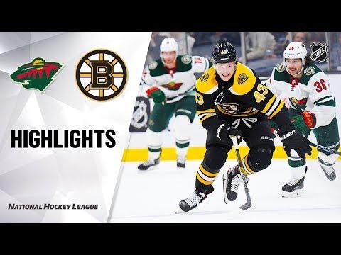 NHL Highlights | Wild @ Bruins 11/23/19