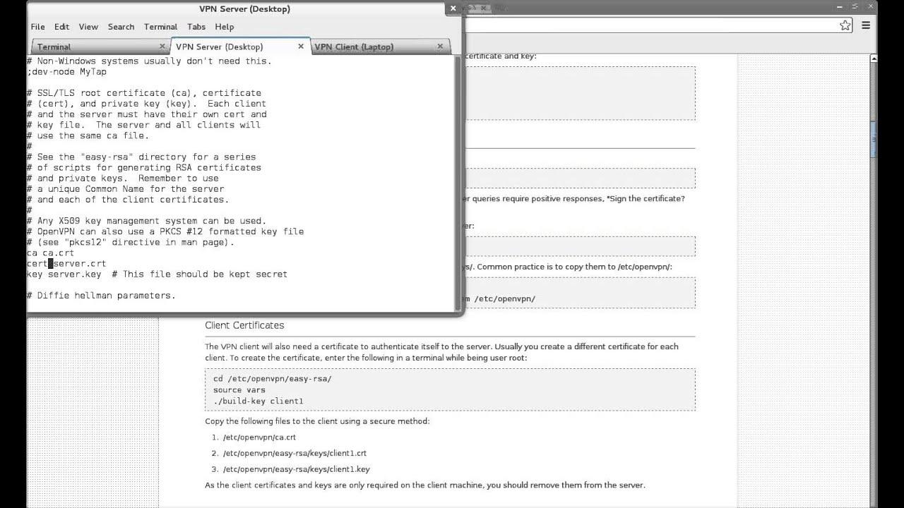 Debian OpenVPN install tutorial