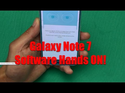 Galaxy Note 7 Software HANDS ON! [IRIS scanner CONFIRMED]