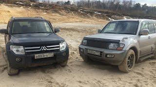 Тест pajero 4 и pajero 3 в песке