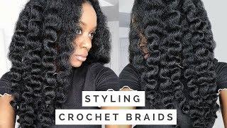HOW TO FLEXI ROD SET ON CROCHET HAIR   USING MARLEY HAIR
