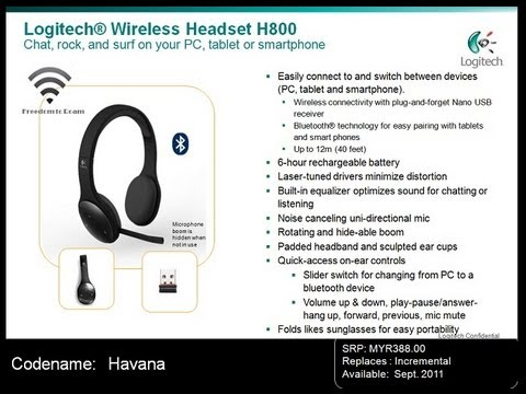 Logitech H800 Wireless Headset Unboxing Youtube