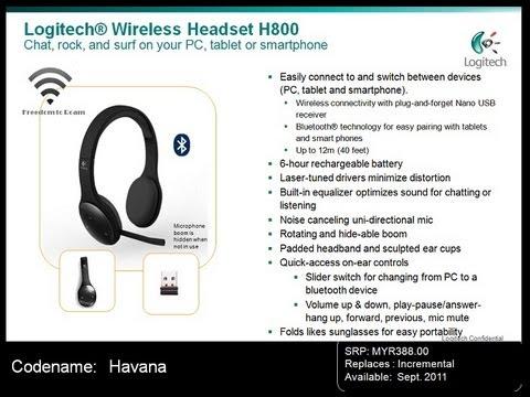 4cff1b101e8 Logitech h800 wireless headset unboxing - YouTube