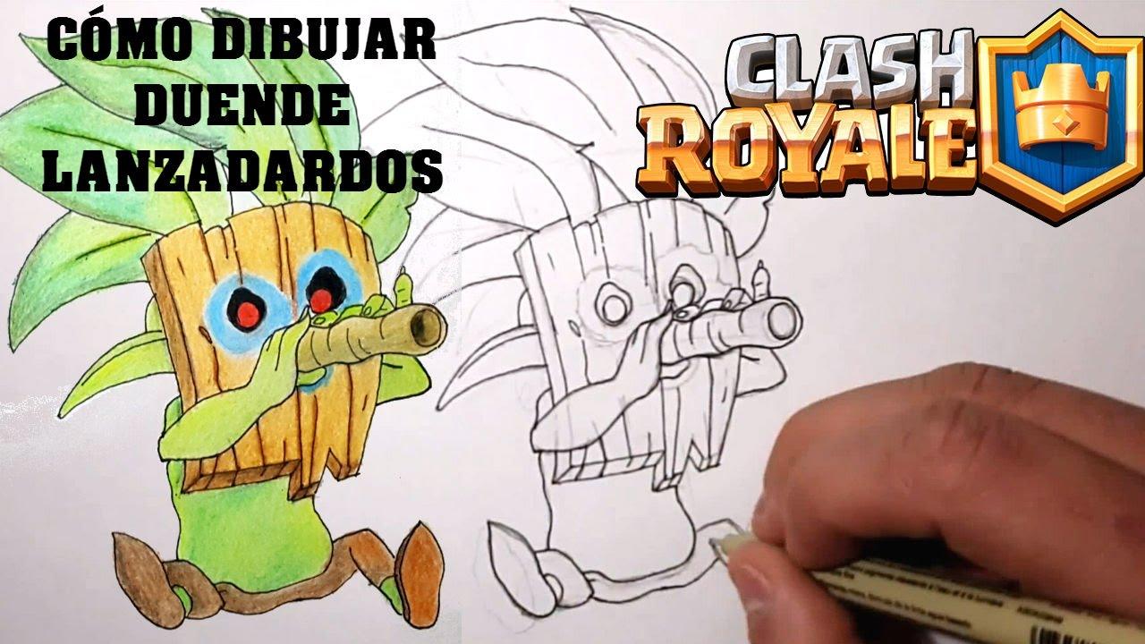 Cómo Dibujar Duende Lanzadardos Clash Royale Magic Bocetos