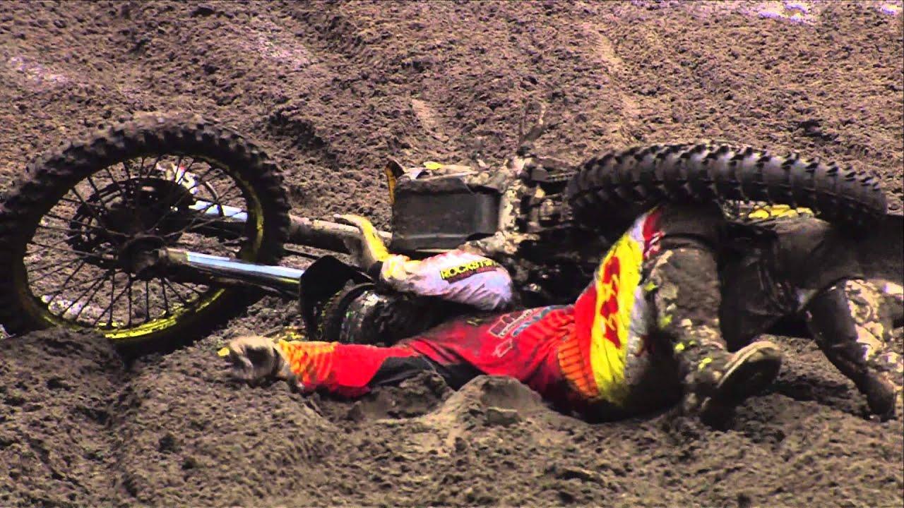 EMX250 Round of Benelux  Jeremy Seewer Crash  Lierop