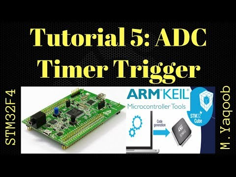 STM32F4 Discovery board - Keil 5 IDE with CubeMX: Tutorial 5 ADC TIM  Trigger - Updated Nov 2017