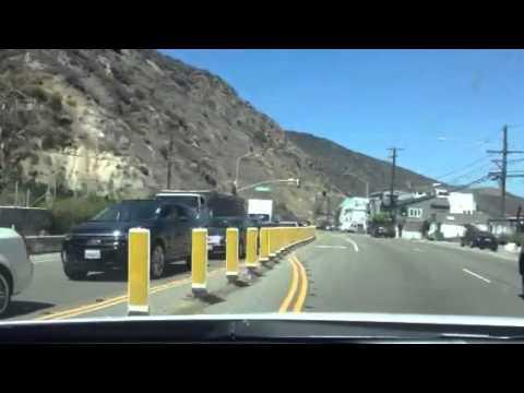 Traffic Accident PCH Malibu June 10 2013 Car Upside Down
