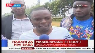 Maandamano Eldoret: Wanafunzi wa Chuo cha Moi wazusha rabsha