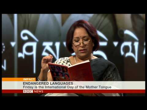"BBC World News ""Impact"": World Mother Language Day and Endangered Languages"
