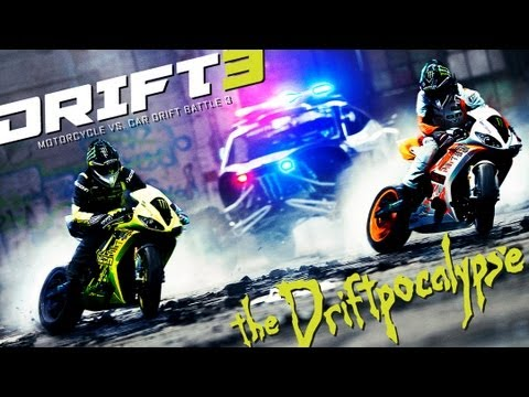 Motorcycle vs. Car Drift Battle 3 – [Full HD]
