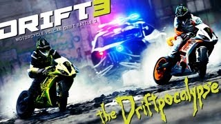 Motorcycle vs. Car Drift Battle 3 - [Full HD] thumbnail
