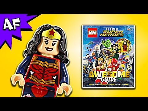 Lego DC Comics Awesome Guide Book Full Review + Wonder Woman Minifigure
