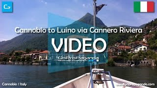 [HD] Cannobio to Luino via Cannero Riviera