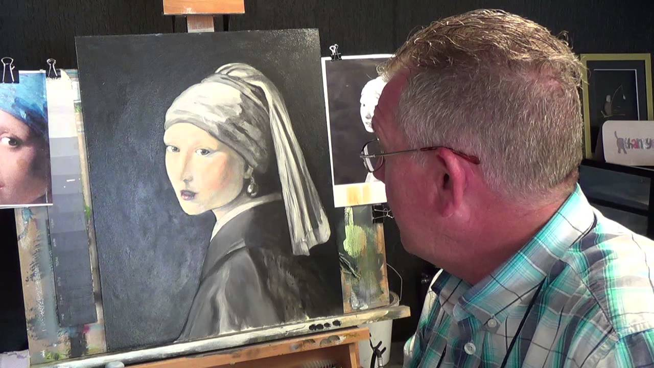 Girl With The Pearl Earring #3 ,acrylic Painting For Beginners, #clive5art