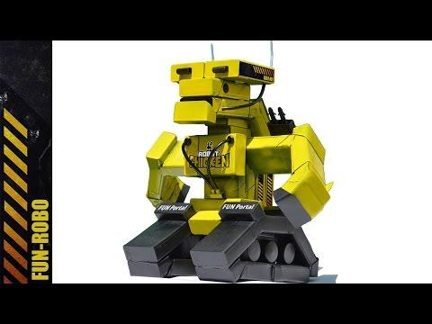 Робот из пачек