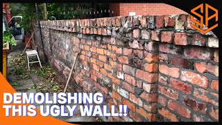 LARGE BOUNDARY WALL PART 1...DEMOLITION